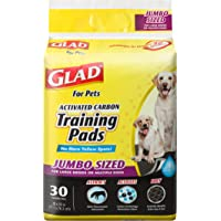Glad for Pets Black Charcoal Puppy Pads | Puppy Potty Training Pads That Absorb & NEUTRALIZE…