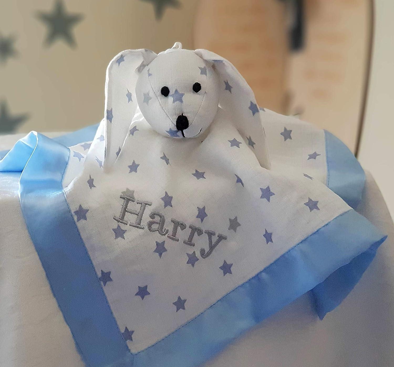 Personalised Lovey Soft Blanket Bunny Toy / Muslin Blanket Comforters