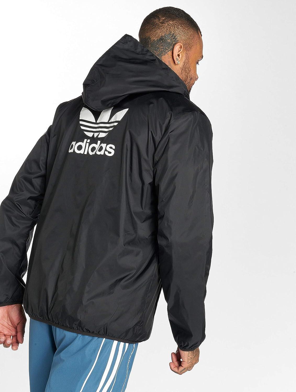 adidas Veste de sport avec capuche Zip TREFOIL Homme Noir