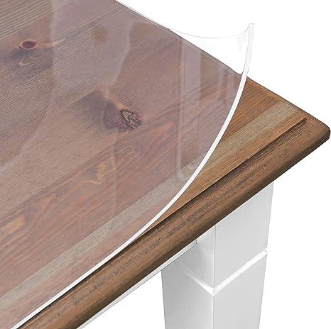 BEAUTEX Glasklar Folie 4 mm transparente Tischdecke konfektioniert, Größe wählbar, Schutzfolie Tischschutz (Eckig 90 x 180 cm)
