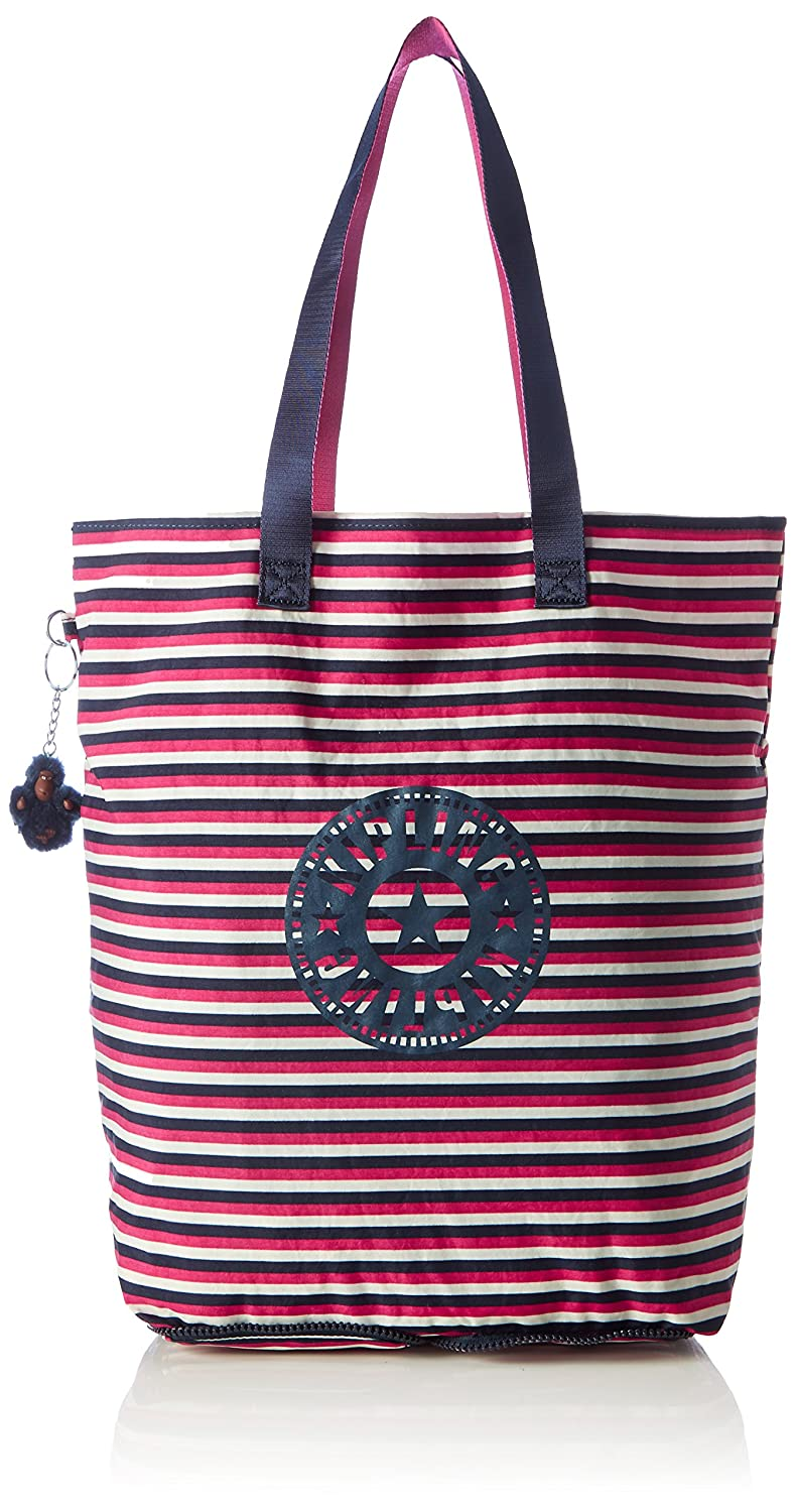 Kipling Womens Hip Hurray 5 Tote Multicolour (Sugar Stripes)  Amazon.co.uk   Shoes   Bags da2d66926a