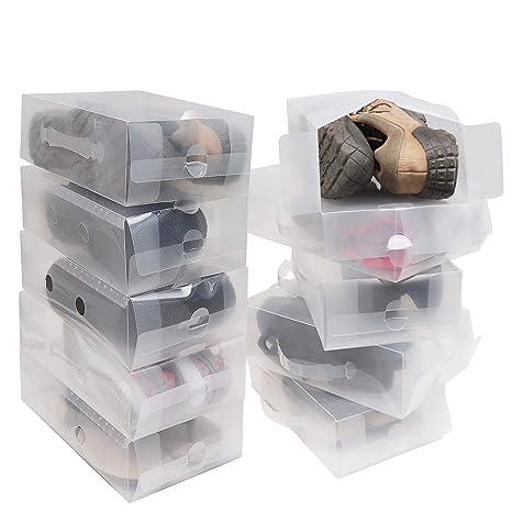 Amazon.com: Kurtzy - Caja de almacenamiento para zapatos (10 ...