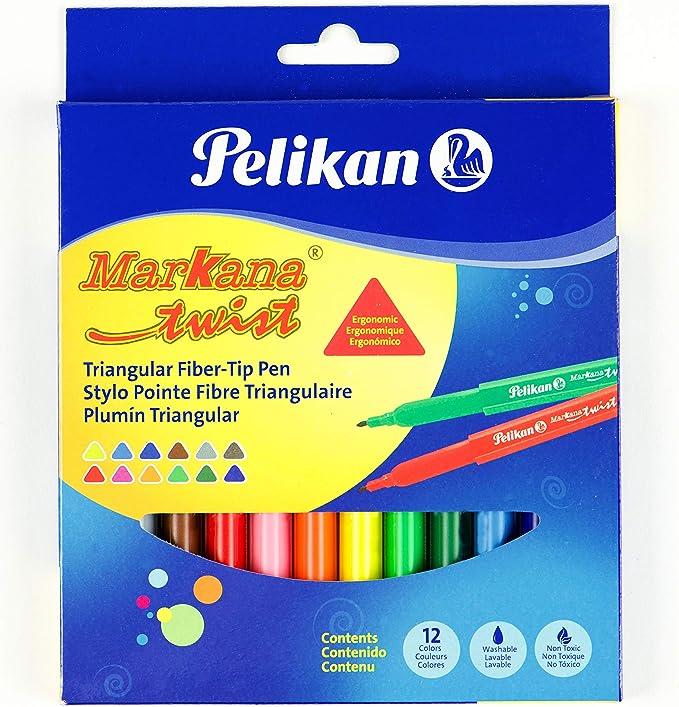 Pelikan Markana Twist - Rotuladores lavables: Amazon.es: Oficina y papelería