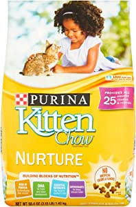 Purina Kitten Chow Dry Kitten Food, Nurture, 3.15 Pound Bag