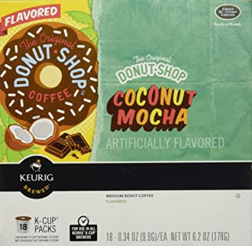 Keurig Donut Shop Coconut Mocha 18 K CUP PACKS034oz Amazoncom