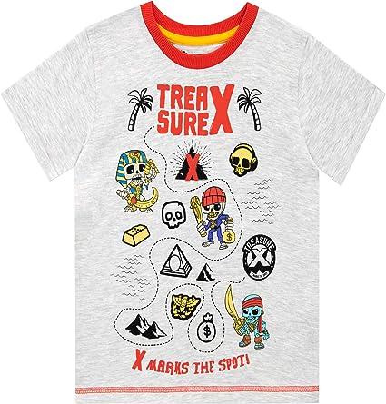 Treasure X Camiseta de Manga Corta para niños: Amazon.es: Ropa y accesorios