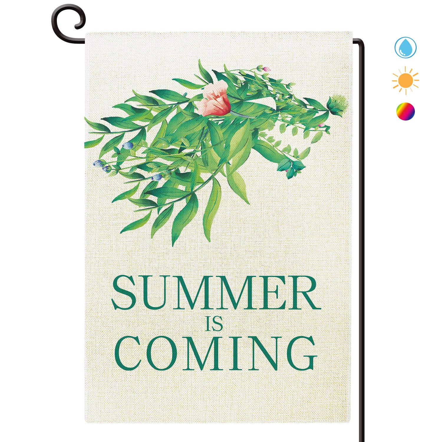 Summer is Coming Garden Flag Waterproof Double Sided Yard Outdoor Decorative 12 x 18 Inch