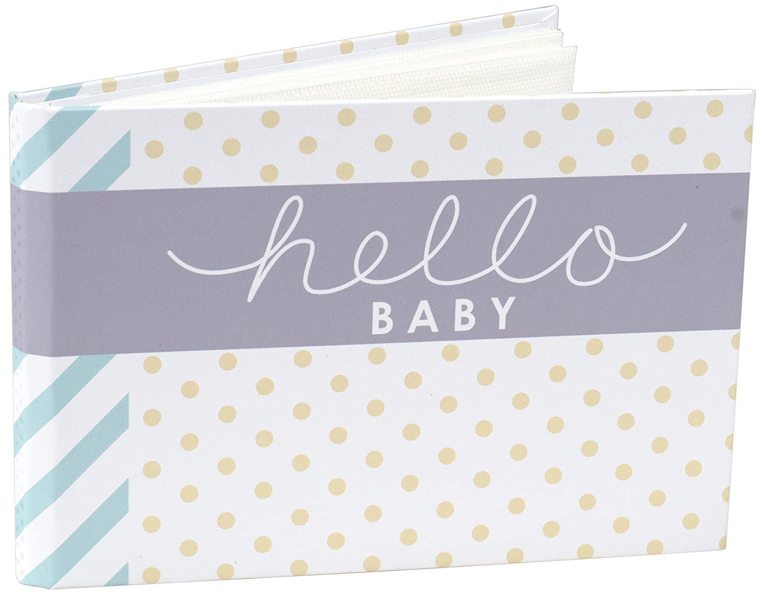 Malden International Designs Hello Baby Photo Album, 40-4x6, White 7080-16