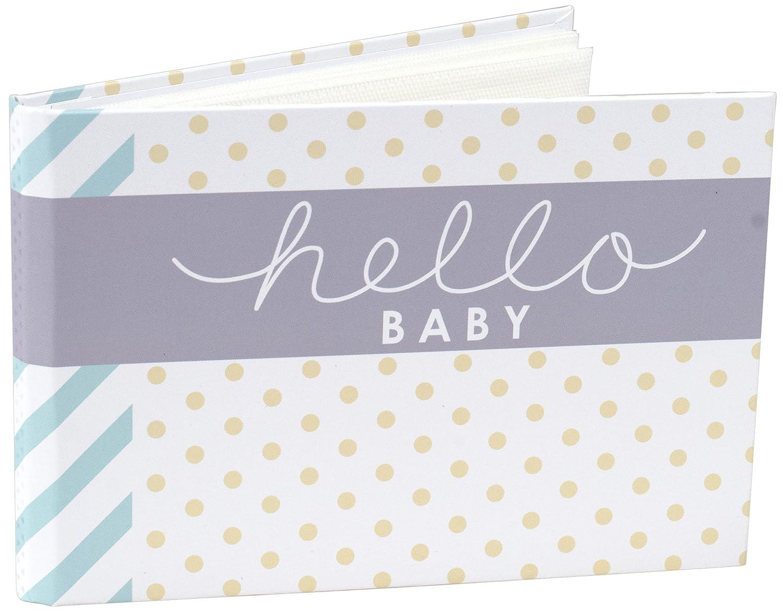 Malden Hello Baby Photo Album Holds 40 Photos, 4-Inch X 6-Inch, Multicolor Malden International Designs 7080-16