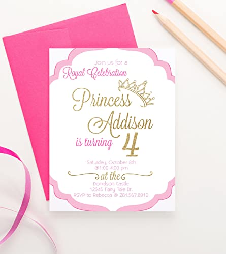 Amazoncom Princess Birthday Invitations for Girls Princess Party