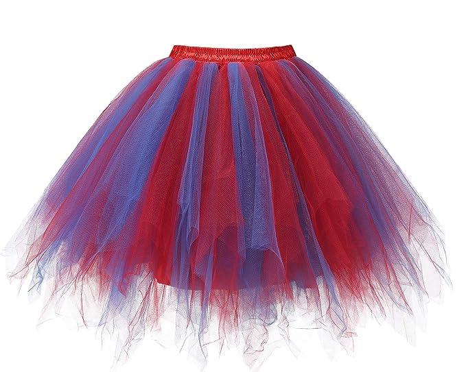 2d33929c6c Bridesmay Mujeres Faldas Enaguas Cortas Tul Plisada Fiesta Tutu Ballet   Amazon.es  Ropa y accesorios