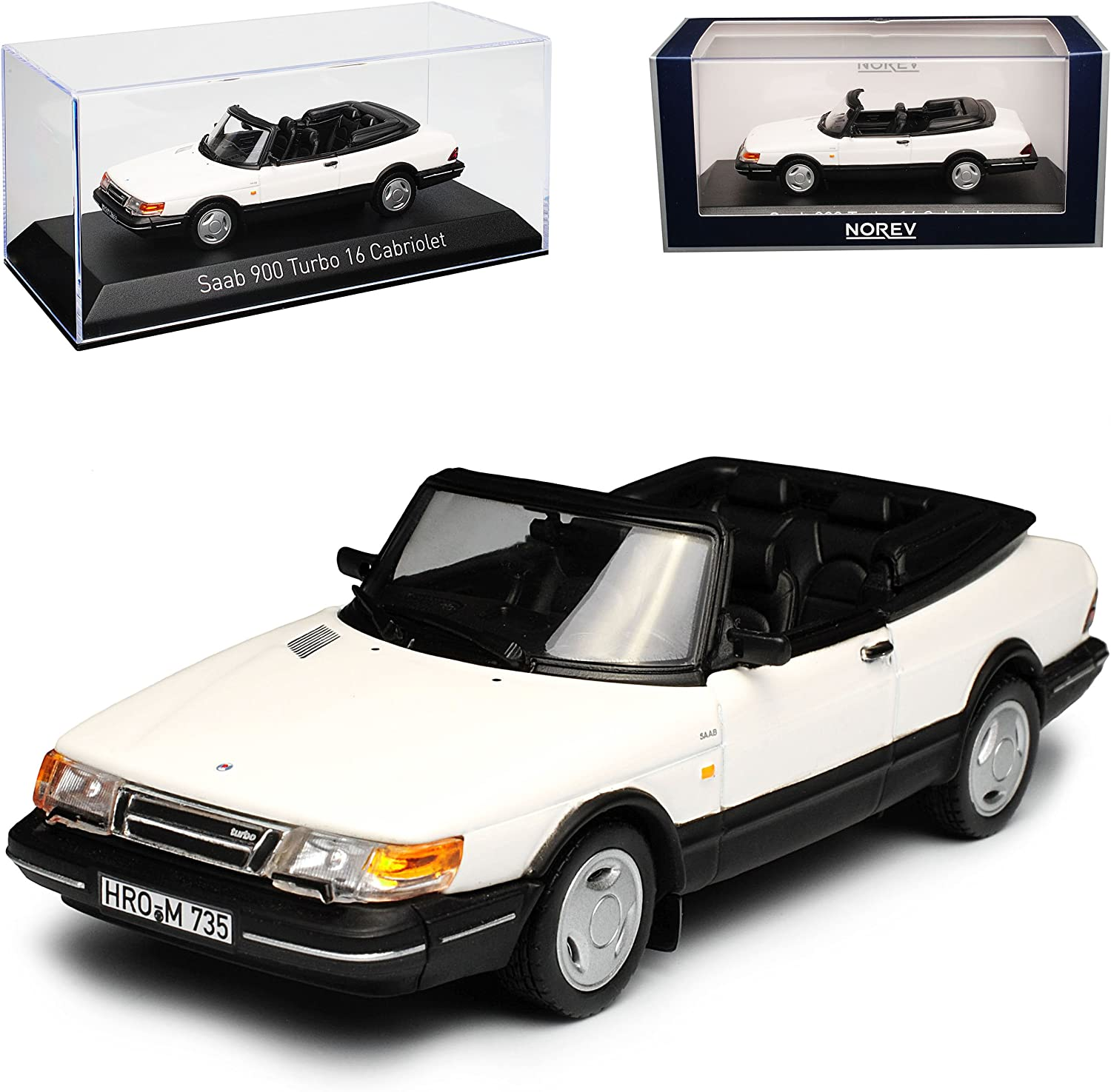 Norev 1: 43 1991 Saab 900 Turbo 16 Coupe – Grau Metallic