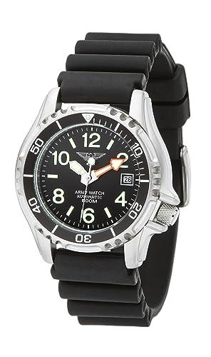 Army Watch Sport by Eichmüller - Reloj de Buceo con correa de PU 50 atm (500 m resistente al agua) ep854: Amazon.es: Relojes