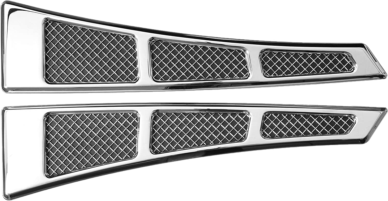 TRex Grilles 54007 Upper Class Small Mesh Aluminum Chrome Finish Side Vent Tape for Chevrolet Silverado 1500