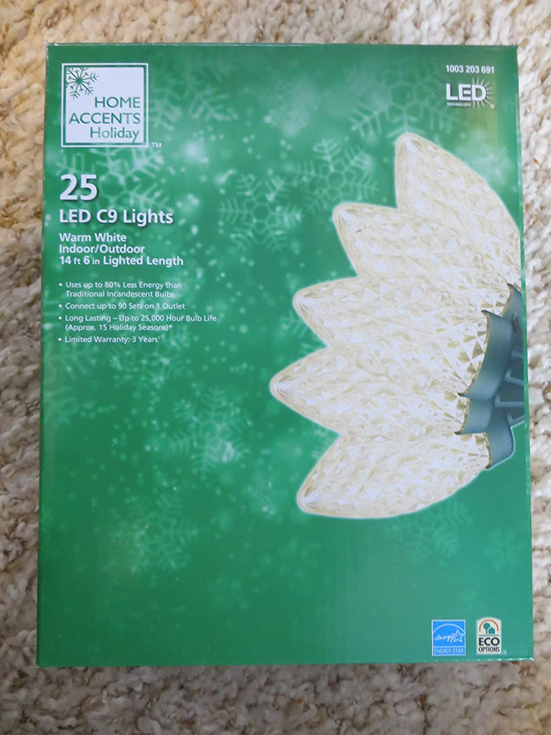 Warm White Home Accents Holiday LED C9 25 Warm White Strawberry 146