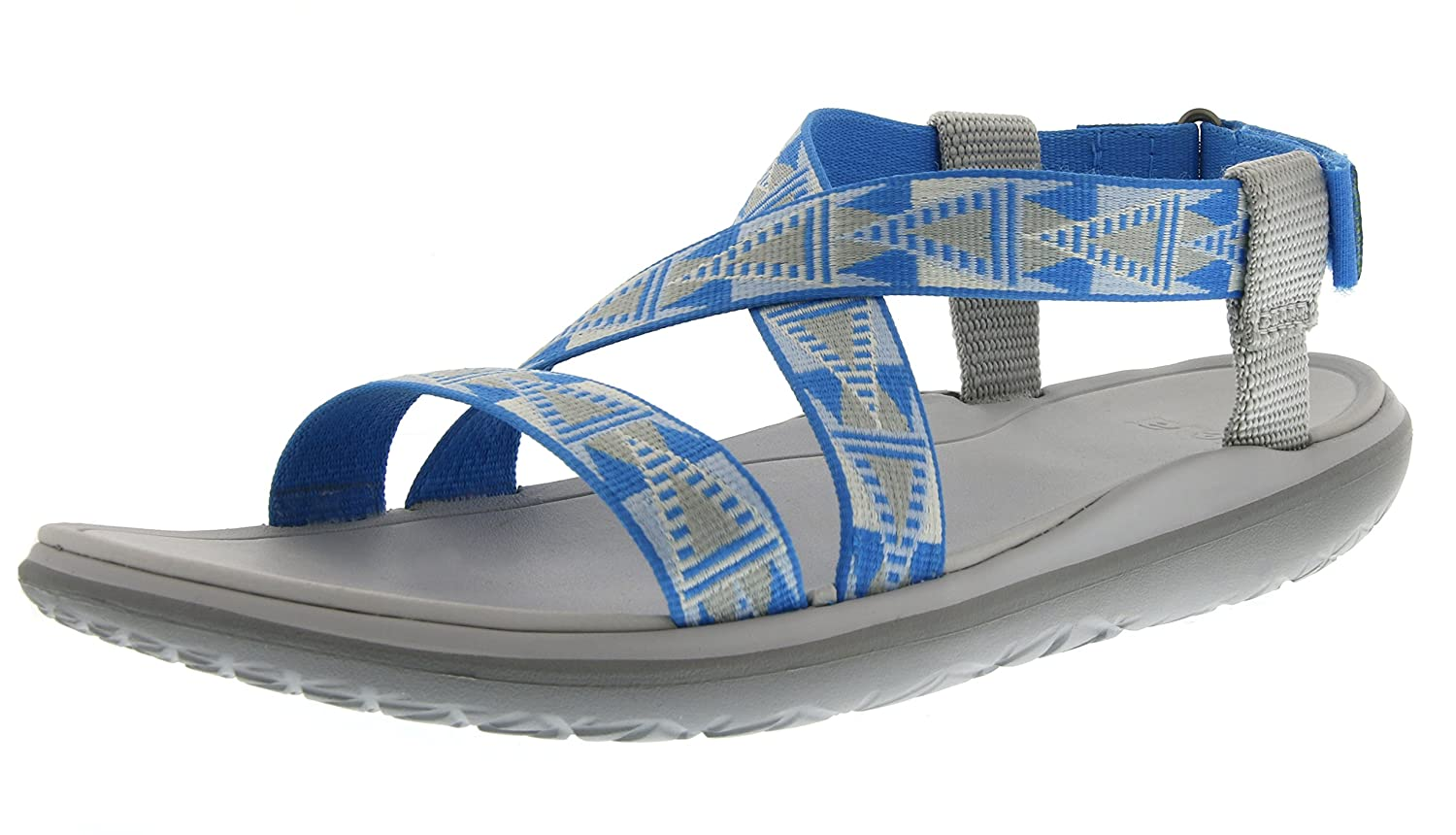 Teva Women's Terra-Float Livia Sandal B00ZFMBDG8 8 B(M) US|Grey/Blue