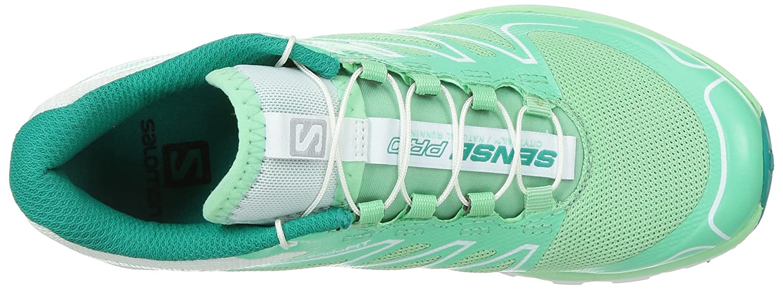 Salomon Women's Sense Pro Trail Running Shoes B00KWKCDBW 9 B(M) US|Lucite Green / White / Peacock