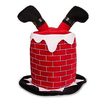amazon com holiday christmas santa chimney hats for adults and kids