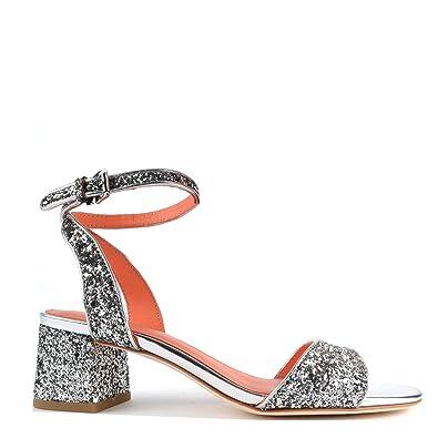80ae0140dc8327 Ash Chaussures Opium Sandales Argent Femme 36 Argent: Amazon.fr ...