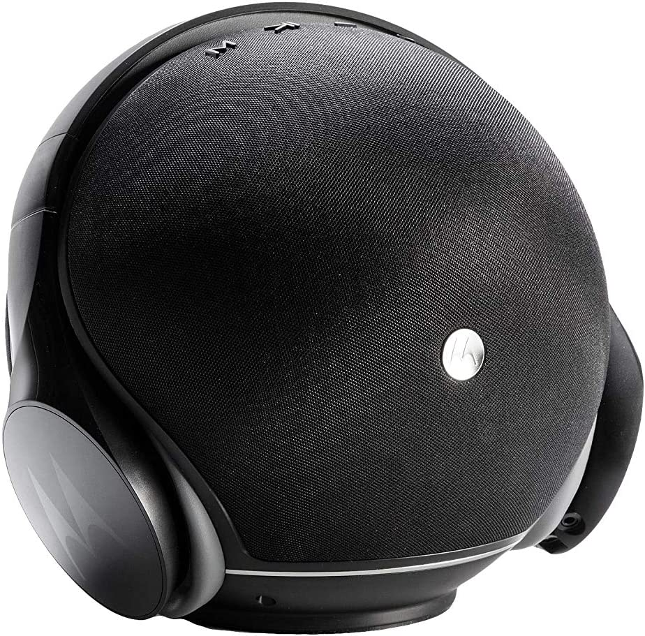 Motorola Sphere SP003 BK, Altavoz Portátil y Auriculares 2 en 1, Inalámbrico, Negro