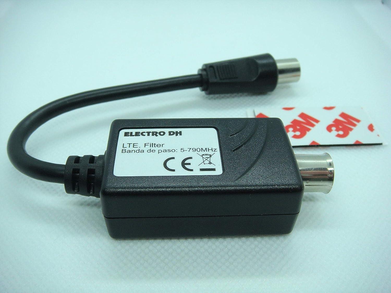 FILTRO LTE (4G) CONECTORES TV/PAL Macho - Hembra: Amazon.es ...