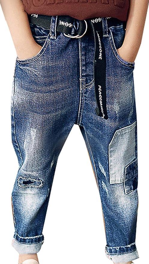 Amazon.com: sellerfun Boys Casual Ripped Jeans Boyfriend ...