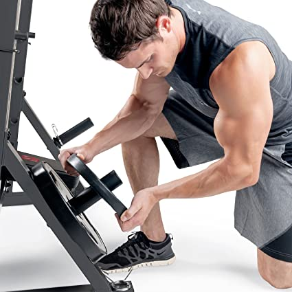 Marcy md857 Diamond Elite banco de pesas con accesorio de musculación - 270 kg carga de peso | - Banco de Pad | desarrollador de pierna: Amazon.es: Deportes ...