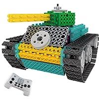 ThinkGizmos Le kit Robot pour Enfants - Le Kit de Construction de Jouet télécommandé Ingenious Machines (Tank)