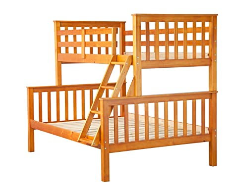 Superb Palace Imports 100 Solid Wood Mission Twin Over Full Bunk Bed Honey Pine 26 Slats Included Optional Drawers Trundle Rail Guard Sold Separately Inzonedesignstudio Interior Chair Design Inzonedesignstudiocom