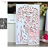Love Metal Die Cuts,Wedding Invitation Princess Frame Couple Cutting Dies Cut Stencils for DIY Scrapbooking Photo Album Embossing Paper Dies for Scrapbooking Card Making