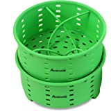 Avokado 8 Quart Instant Pot Stackable Silicone Steamer Basket Accessories with One Insert Divider - Easy Cleanup for Instapot Pressure Cookers, Crockpot Express Cooker and Stove Top Pots