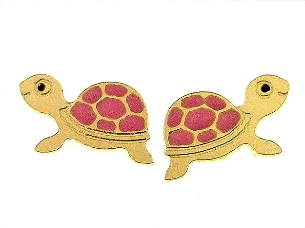 VERDE f  Gioielli orecchini tartaruga in oro giallo 750/% 18 kt  O2315G  € 102,00