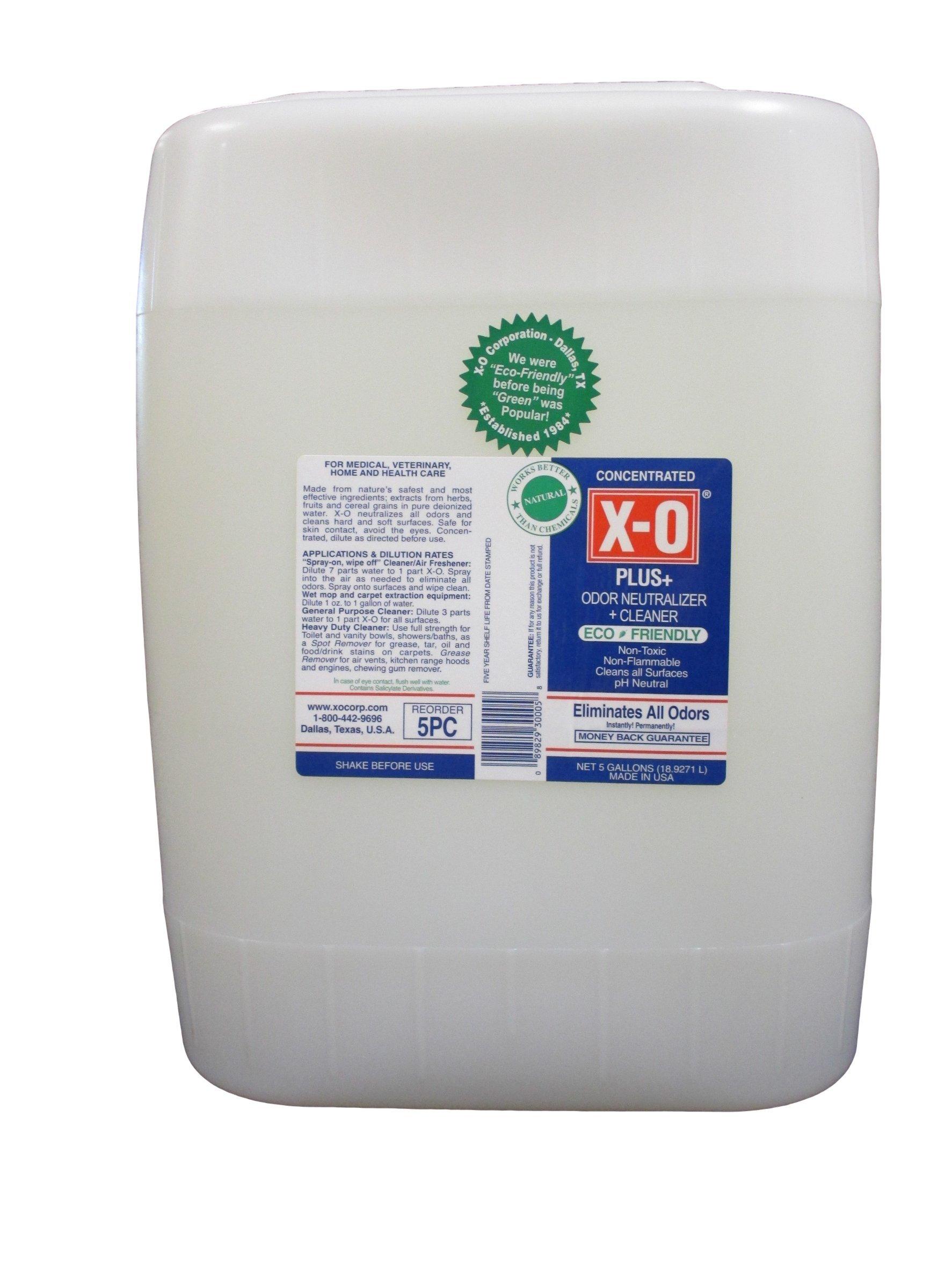 X-O Plus Odor Neutralizer/Cleaner, 5 gal, Clear