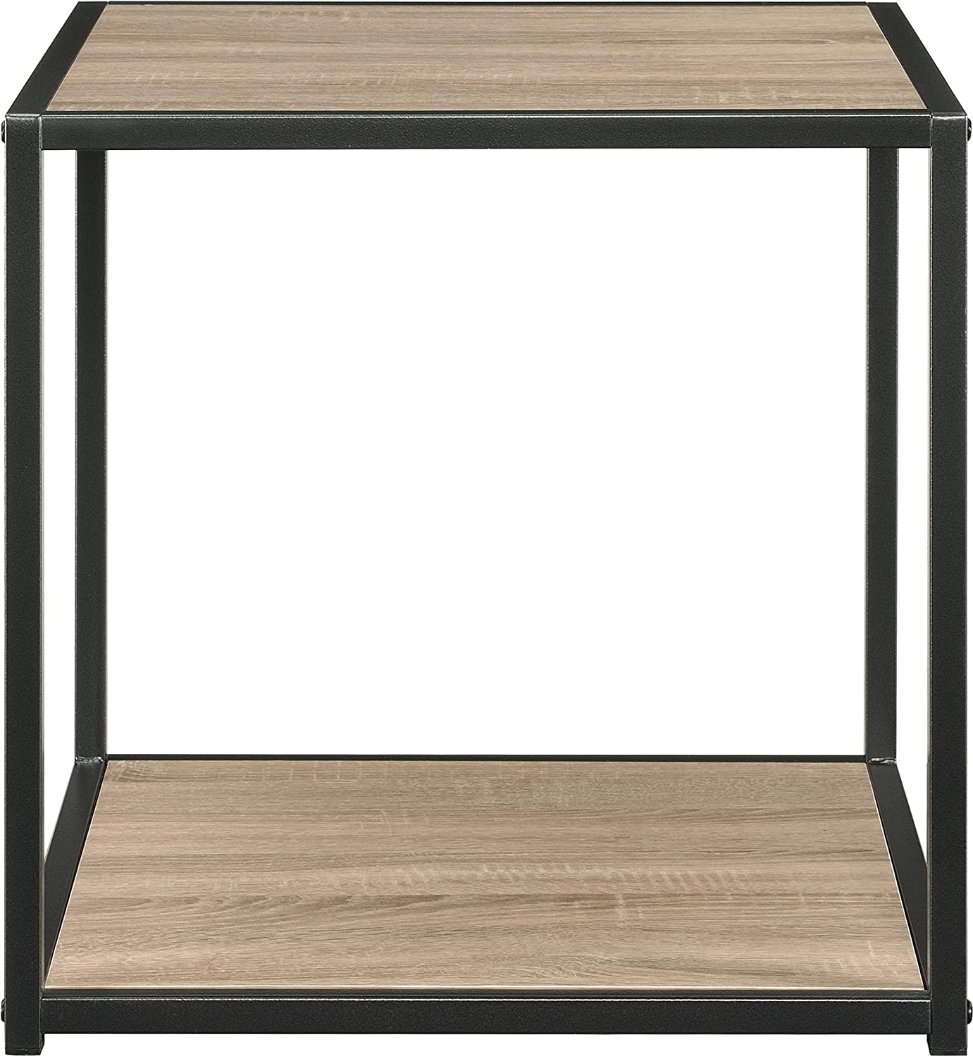 amazon com altra canton accent table with metal frame sonoma oak