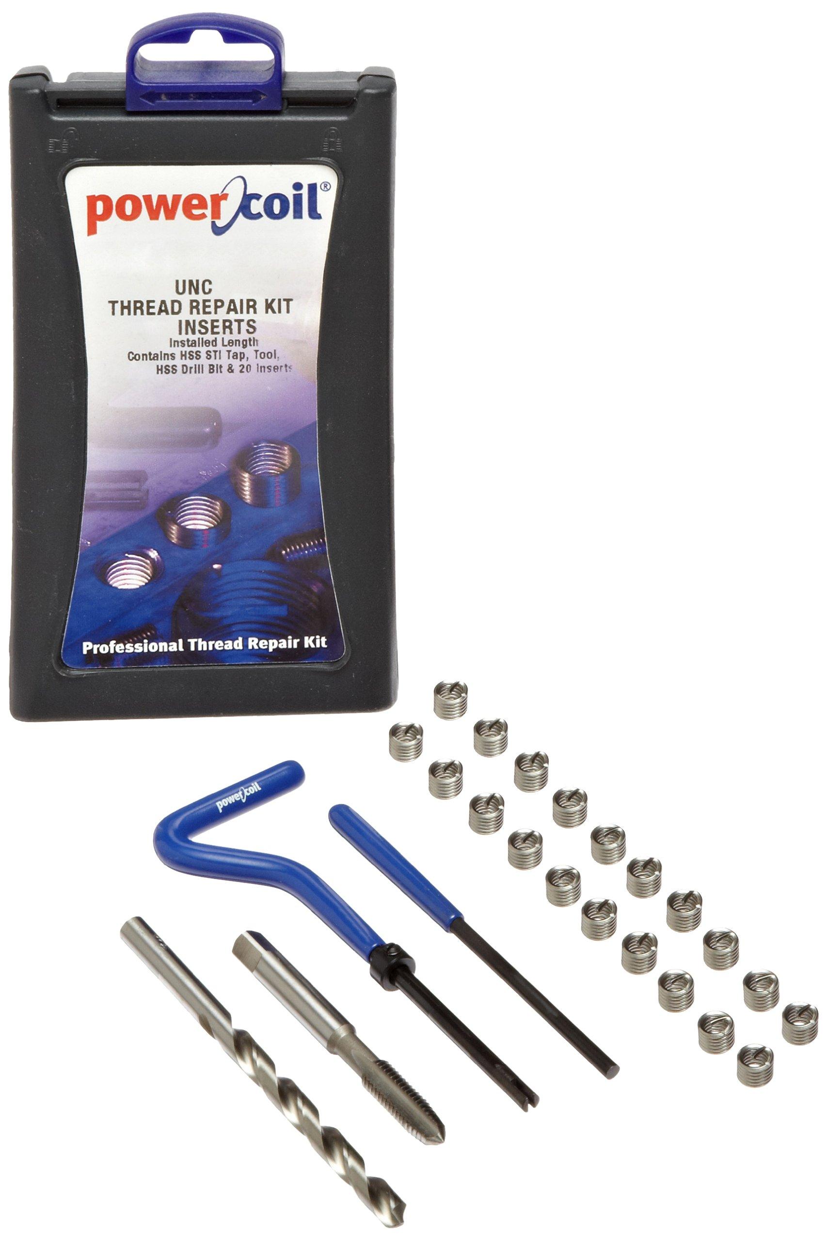 PowerCoil 3532-1/4K Free Running Coil Threaded Insert Kit, 304 Stainless Steel, 1/4''-20 Thread Size, 0.375'' Installed Length