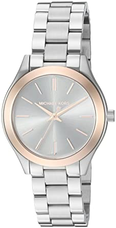 0e4cc94c6bfa Amazon.com  Michael Kors Women s Mini Slim Runway Silver-Tone Watch ...