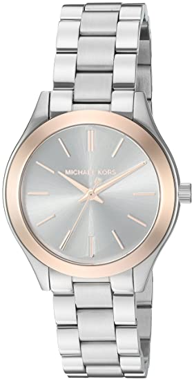 f4c3b37a270f Image Unavailable. Image not available for. Colour  Michael Kors Women s  MK3514 - Mini Slim Runway Silver