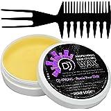 Hair Styling Pomade - DJ Gel Wax shine look  hair gel 3.9oz + Free Dj Comb