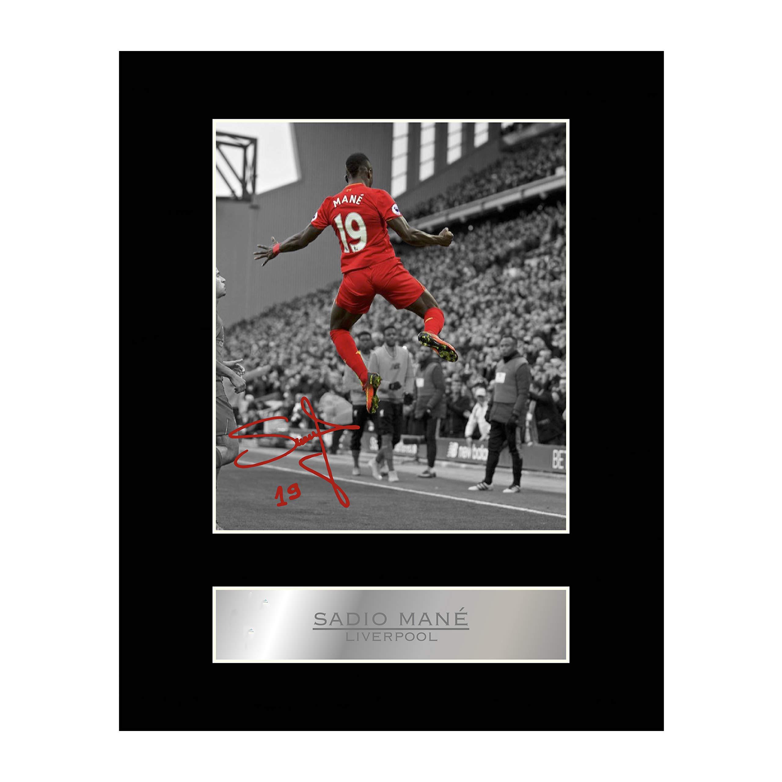 Sadio Mané Signed Mounted Photo Display Liverpool FC #2
