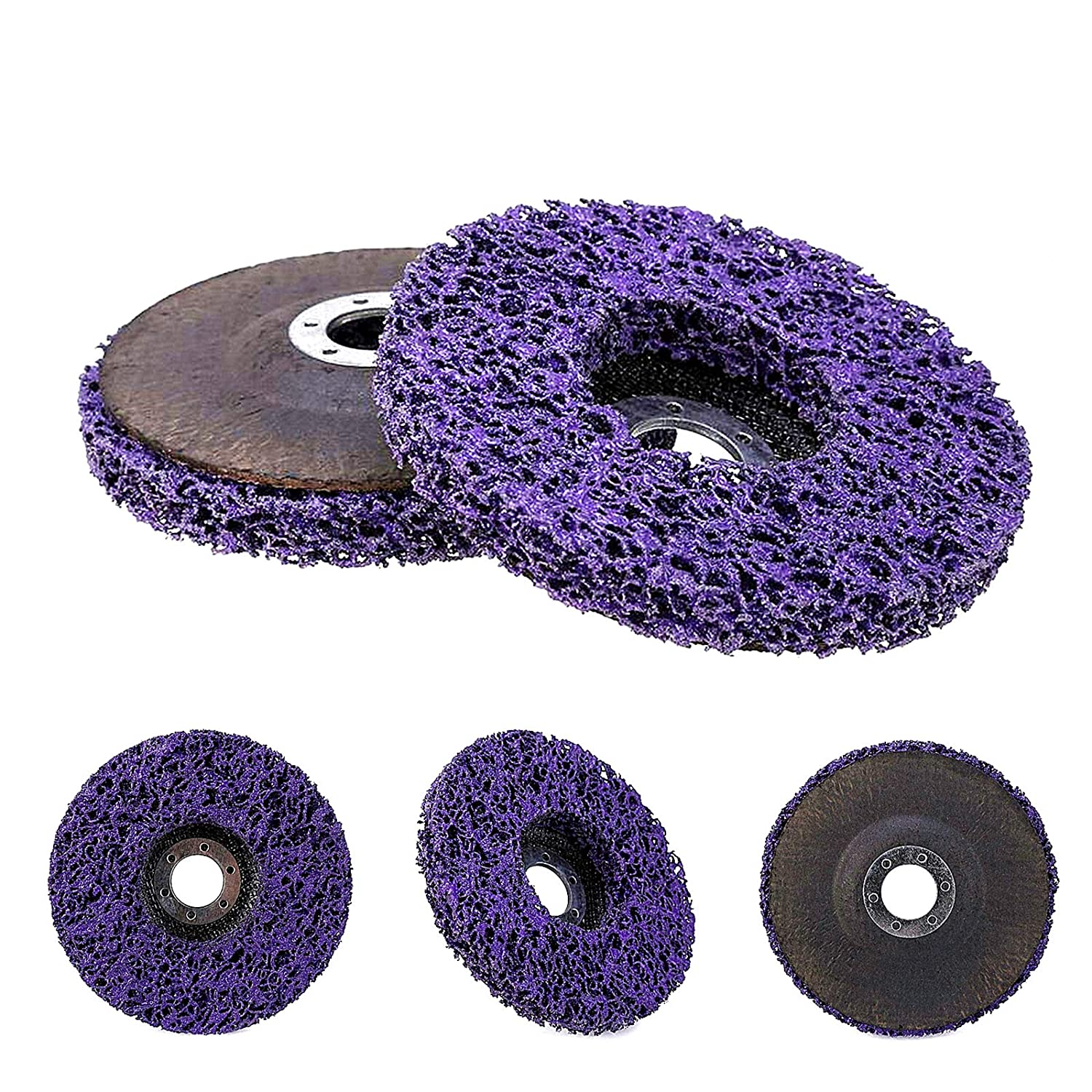 125 MM Poly-Carbide Abrasive Discs HLYCare Stripping Wheel Strip Discs for Angle Grinders Clean and Remove Paint//Coating//Rust//Oxidation,3 PCS 5/″-7//8/″