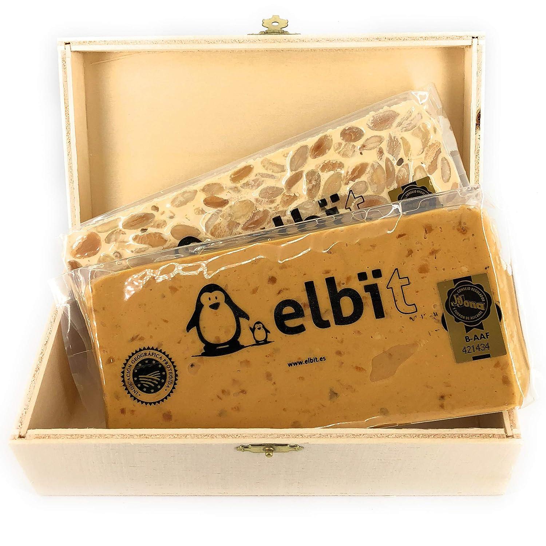 Elbit® - Lote turrones Artesanos Calidad Suprema | Turrón tradicional blando y duro | Turron de Jijona Turrón de Alicante | Caja Turrón de madera ...