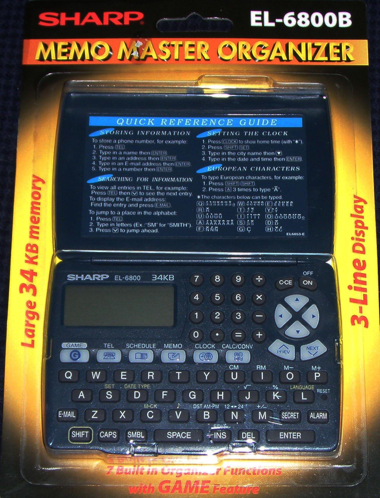 Memo Master Electronic Organizer by Sharp