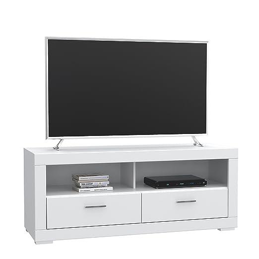 NEWFACE  TV-Unterschrank mit 2 Schubk/ästen 156 x 52.1 x 64 cm Wei/ß matt Holz