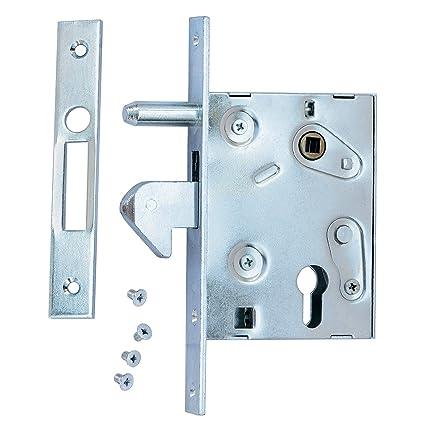 Cerradura Cerradura de gancho f de 60 Puerta Corredera Cerradura para puertas correderas (contra placa