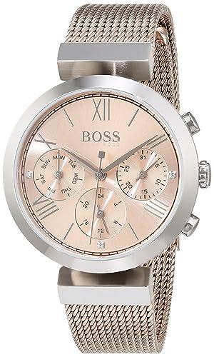 Hugo BOSS Reloj Analógico para Mujer de Cuarzo con Correa en Acero Inoxidable 1502426: Amazon.es: Relojes
