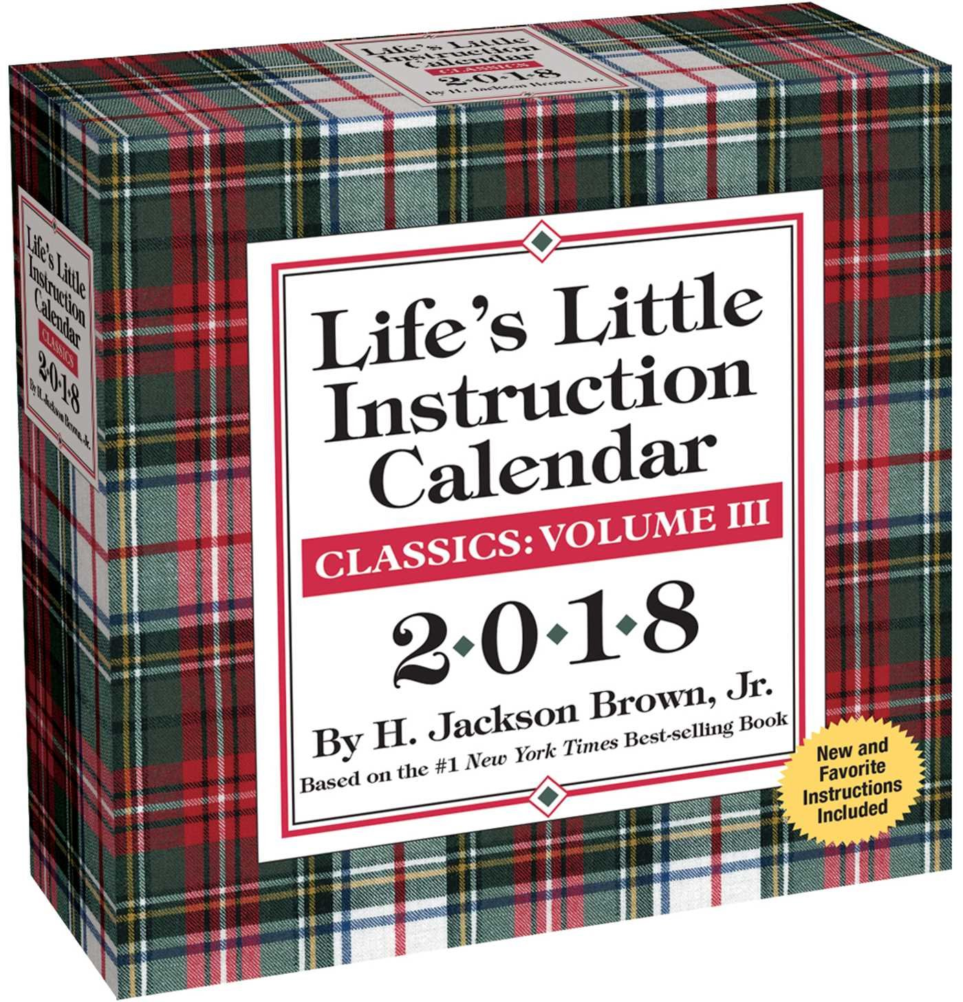 Life's Little Instruction 2018 Day-to-Day Calendar Calendar – Day to Day Calendar, Desk Calendar H. Jackson Brown Andrews McMeel Publishing 1449482848 Mind