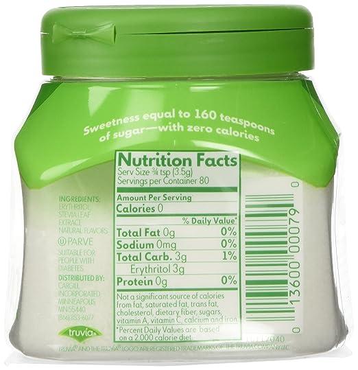 Truvia Nutrition Label – Besto Blog
