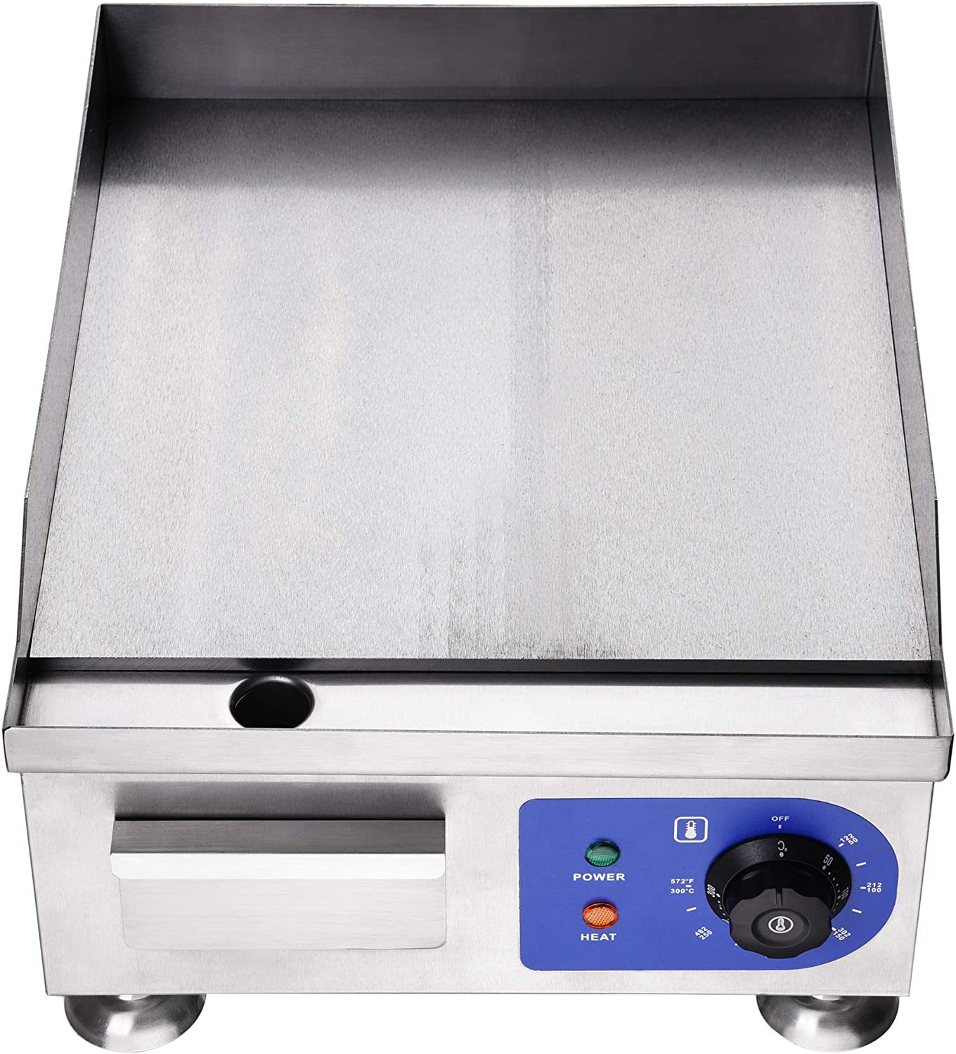 WeChef 14 Electric Countertop Griddle Stainless Steel Adjustable Temp Control Commercial Restaurant Grill 1500W