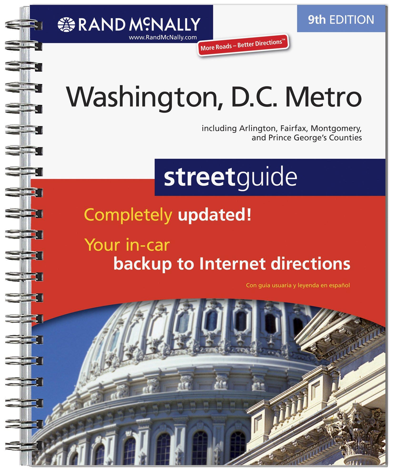 Washington DC Metro Rand McNally Washington DC Metro Street - Us paper map thomas guide