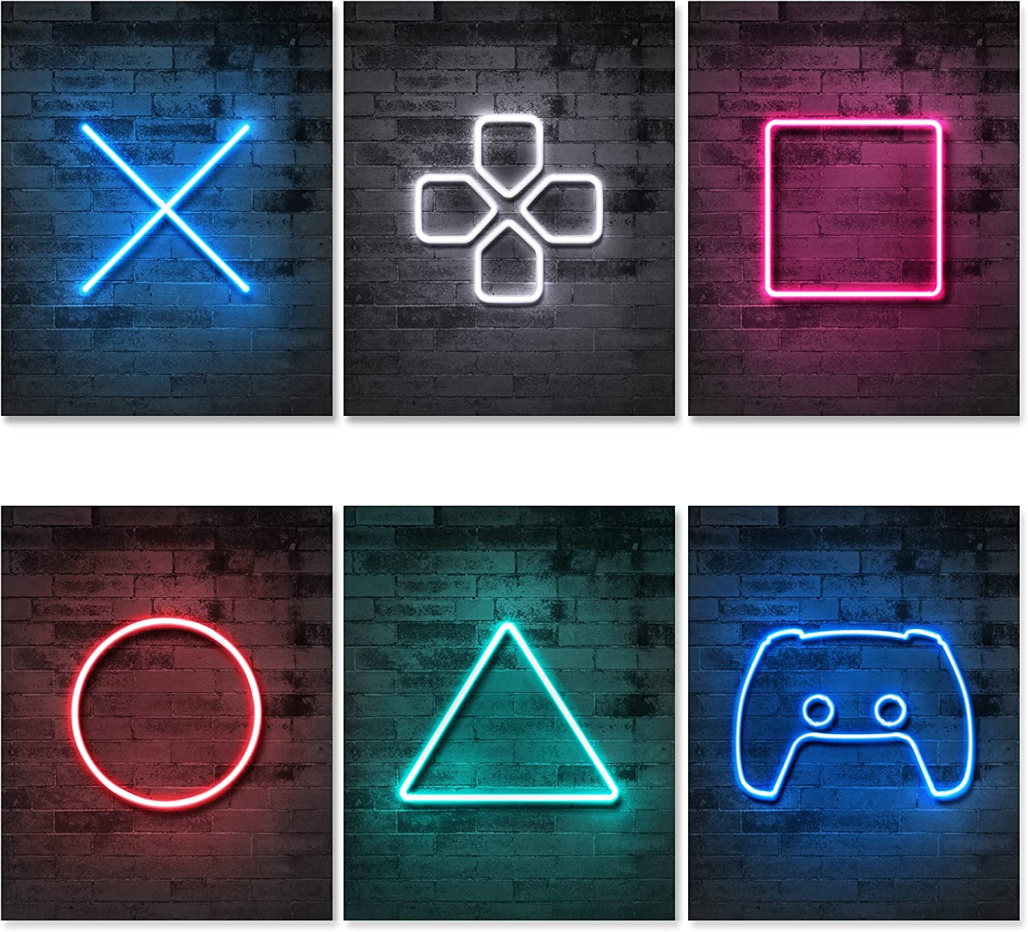 Jumant PRINTED Neon Gaming Posters - Un-framed 8